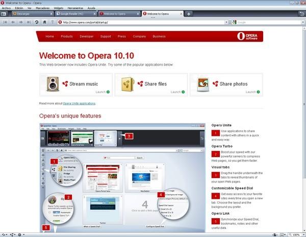 Версия Opera 10 10