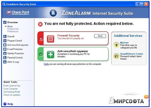 descargar zonealarm extreme security full español